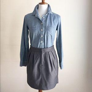 Banana Republic pleated skirt | charcoal | Sz 0
